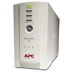 APC BackUPS 350CS 350VA Tower UPS, Refurbished (BK350CS)