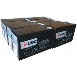 UBC26 Replacement Battery Kit Compatible with APC RBC26