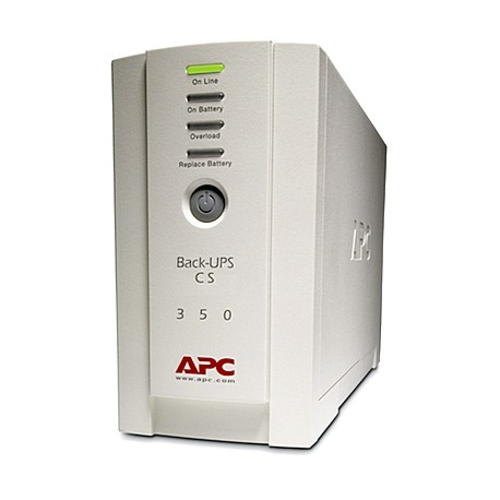APC BackUPS 350CS 350VA Tower UPS, Refurbished (BK350CS)